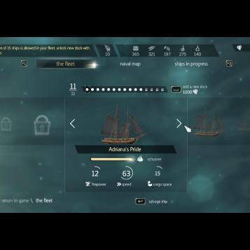 จะเห็นว่ามีเรือที่เรายึดไว้อยู่ใน Fleet